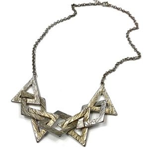 Nasty Gal Silver Clustered Statement Necklace